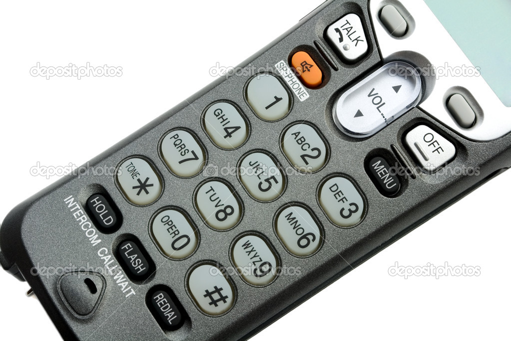 Phone keypad close-up ,isolated on white background — Stock Photo #1209427