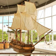 Stock Photo: Demonstrative model of old caravel