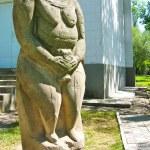 The Stone Woman. Ancient Slavian idol. — Stock Photo