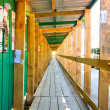 Stock Photo: Wooden framework passage