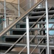 Modern metallic stairs - Stock Photo