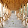 Covered wooden passage — Stock Photo