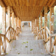 Stock Photo: Covered wooden passage