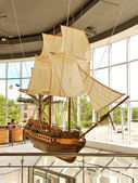 Demonstrative model of old caravel — Stock Photo