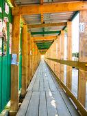 Wooden framework passage — Stock Photo