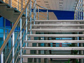 Modern metallic stairs — Stock Photo
