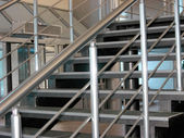 Modern metallic stairs — Stock Photo