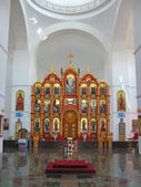 Iconostasion of St. Vladimir Cathedral — Stock Photo