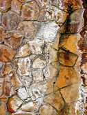 Olden moldy stone wall — Stock Photo