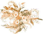Delicate autumnal flowers — Stock Vector