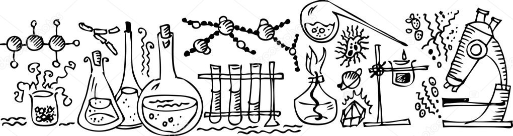 Scientific Lab. Eau-forte. — Stock Vector #1553916