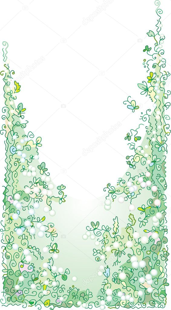 Pale greenery II — Stock Vector #1554016