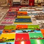 Traditional Arabian motley tapestry — Stock Photo