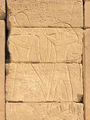 Pharaoh Ramses and the sun god Ra — Stock Photo