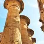 Grandiose colonnade in Karnak Temple — Stock Photo