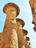 Grandiose colonnade in Karnak Temple — Stock Photo