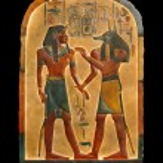 Pharaoh and Anubis. Egyptian palette. — Stock Photo