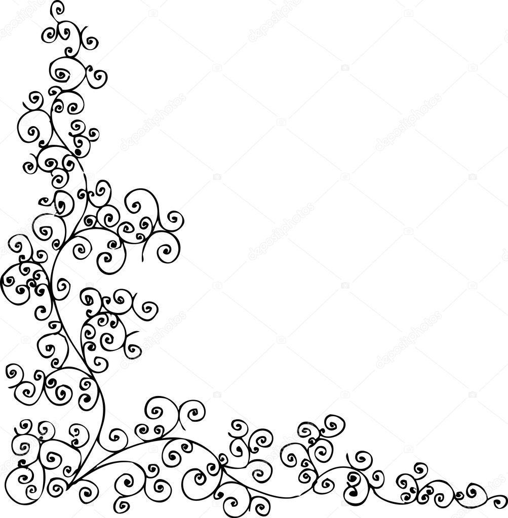 vignette motif baroque 006 image vectorielle 2266552. Black Bedroom Furniture Sets. Home Design Ideas