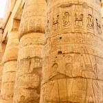 Egyptian hieroglyphics on the column — Stock Photo