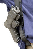 Holster with gun. — Stock Photo