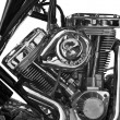 Stock Photo: Partial view of motorcycle