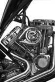 Partial view of motorcycle — Stock Photo
