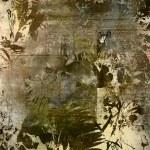 Art floral vintage old paper background — Stock Photo