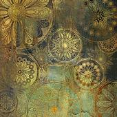 искусство цветочный гранж фоновый узор — Стоковое фото