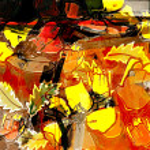 Art vintage floral background — Stock Photo