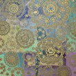 Art vintage floral background - Stock Photo