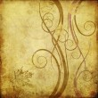 Art floral drawing graphic background — Stockfoto
