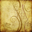 Royalty-Free Stock Photo: Art floral drawing graphic background