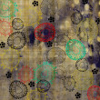 图库照片: Art floral drawing graphic background