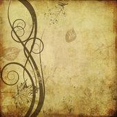 Arte floral fundo gráfico de desenho — Foto Stock