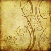 Art floral drawing graphic background — Stock Photo