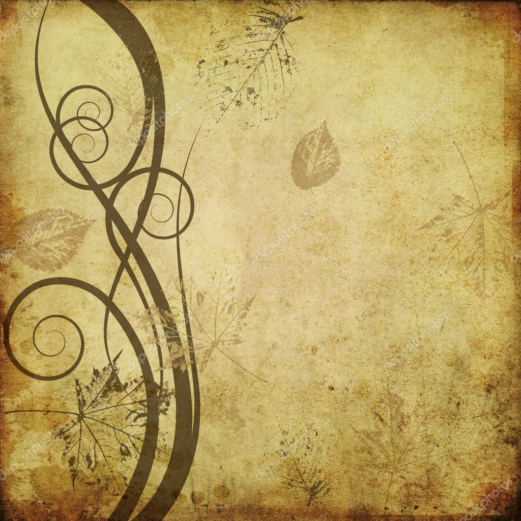 Art floral drawing graphic background — Foto Stock #1611941