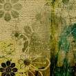 Stock Photo: Art grunge floral vintage background