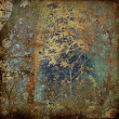Art grunge forest background card — Stock Photo