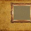 Art frame on pattern paper — Foto de Stock