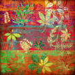 Art floral autumn background card — Stock Photo #1642053