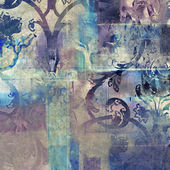 Art floral grunge background pattern — Стоковое фото