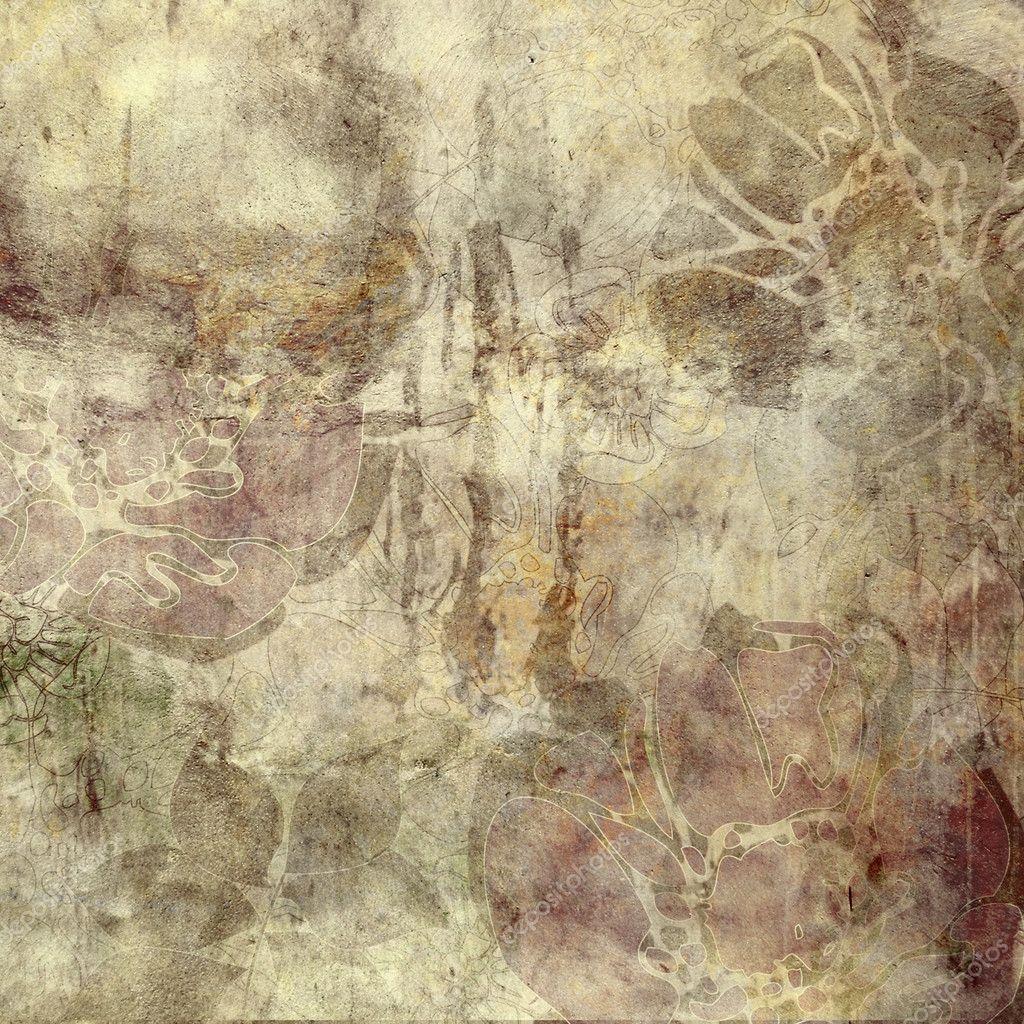 Grunge Art Art Floral Grunge Background