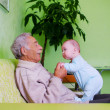 Royalty-Free Stock Photo: Baby with grandpa