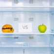 Sandwich versus apple — Stock Photo