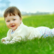 Baby on the grass — Stock Photo #1172978