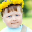 Baby with yellow diadem — Stock Photo