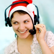 Stock Photo: Christmas operator