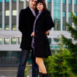Couple in the city — Foto de Stock