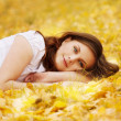Autumn girl — Stock fotografie