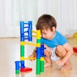 Child play with toys — Stock Photo